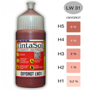 Tintasol oxide rood kleurconcentraat kalkbestendig