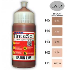 Tintasol bruin kleurconcentraat kalkbestendig