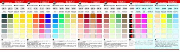 Supertintasol kleurenkaart
