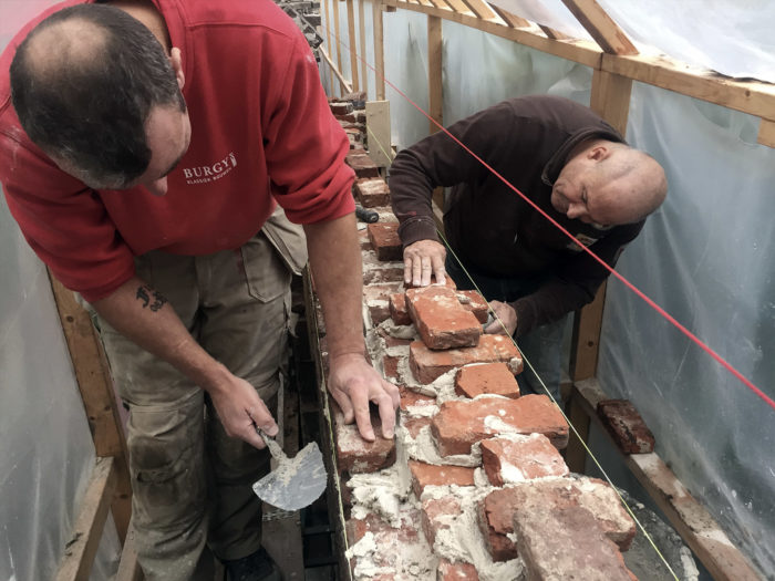 Meermanno tuinmuur restauratie mortel