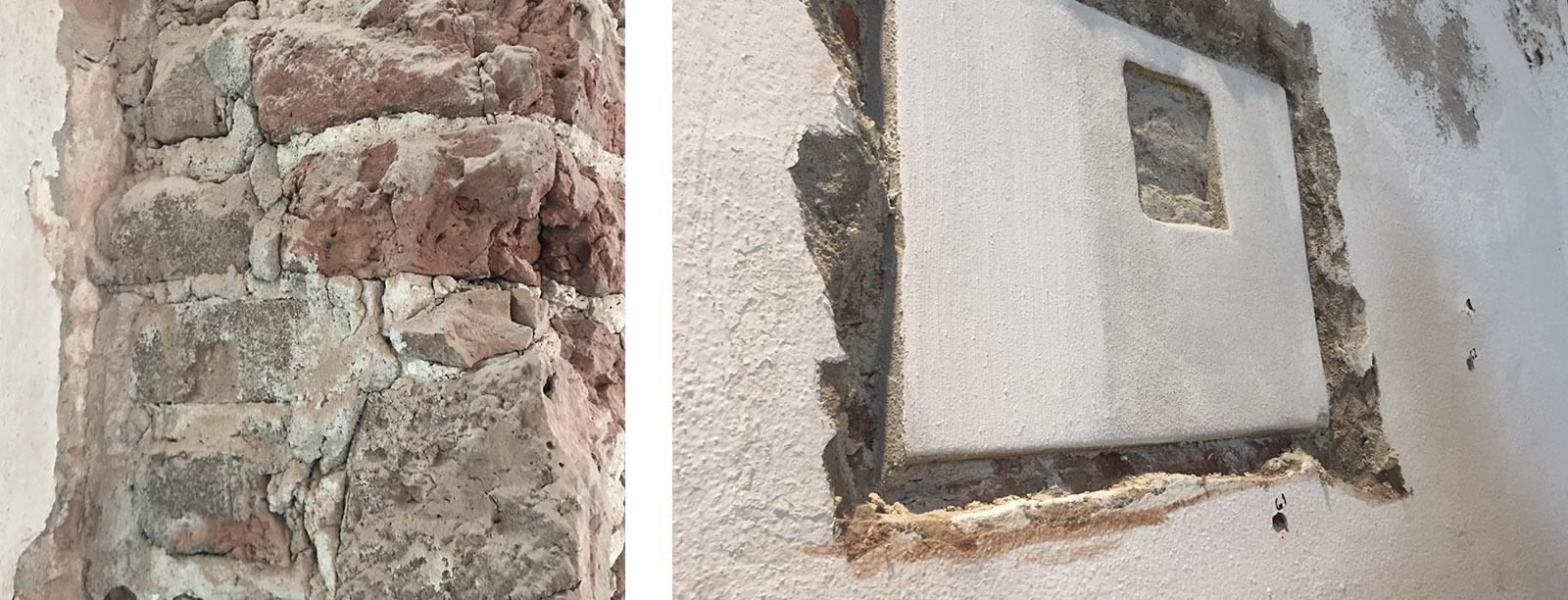 Detail mortel restauratie