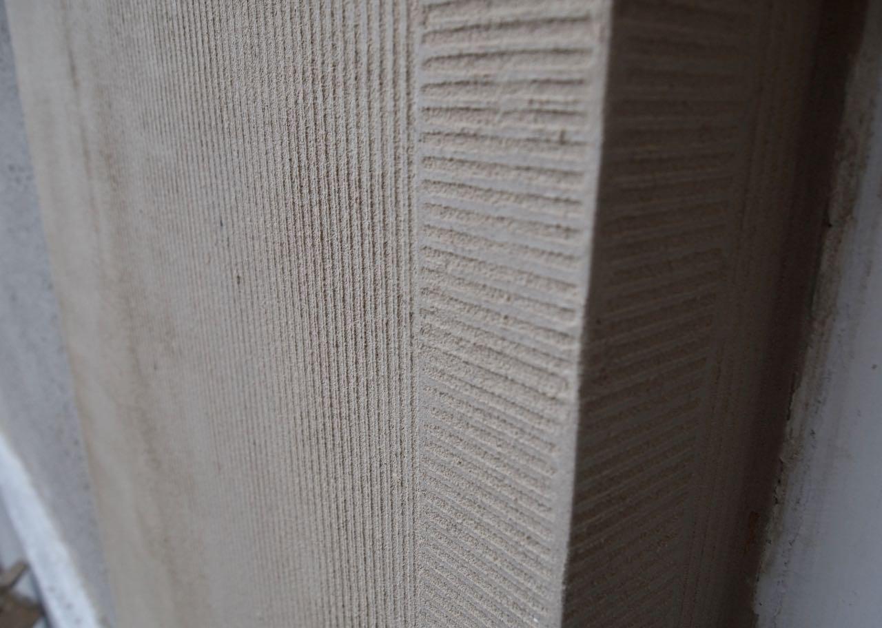 Kamwerk frijnwerk, pleisterwerk R-kalkmortel
